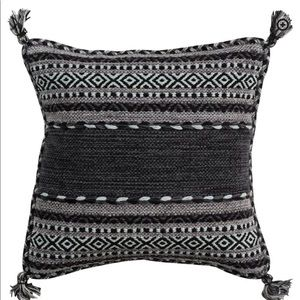 Black Doerun Throw Pillow Cover (x2) - BRAND NEW